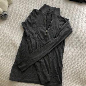 Lululemon quarter zip workout shirt